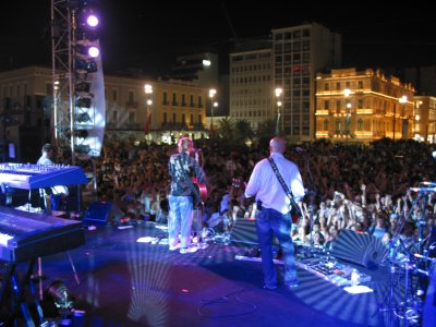 Delirious? on stage in Omonia Square, Athens